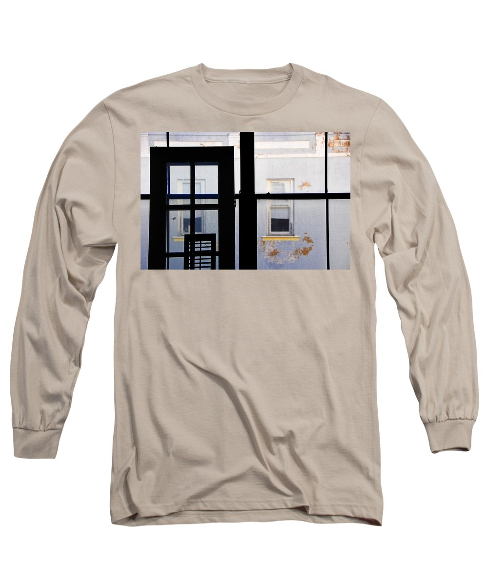 Architecture Long Sleeve T-Shirt featuring the photograph Rear Window 3 by Skip Hunt
