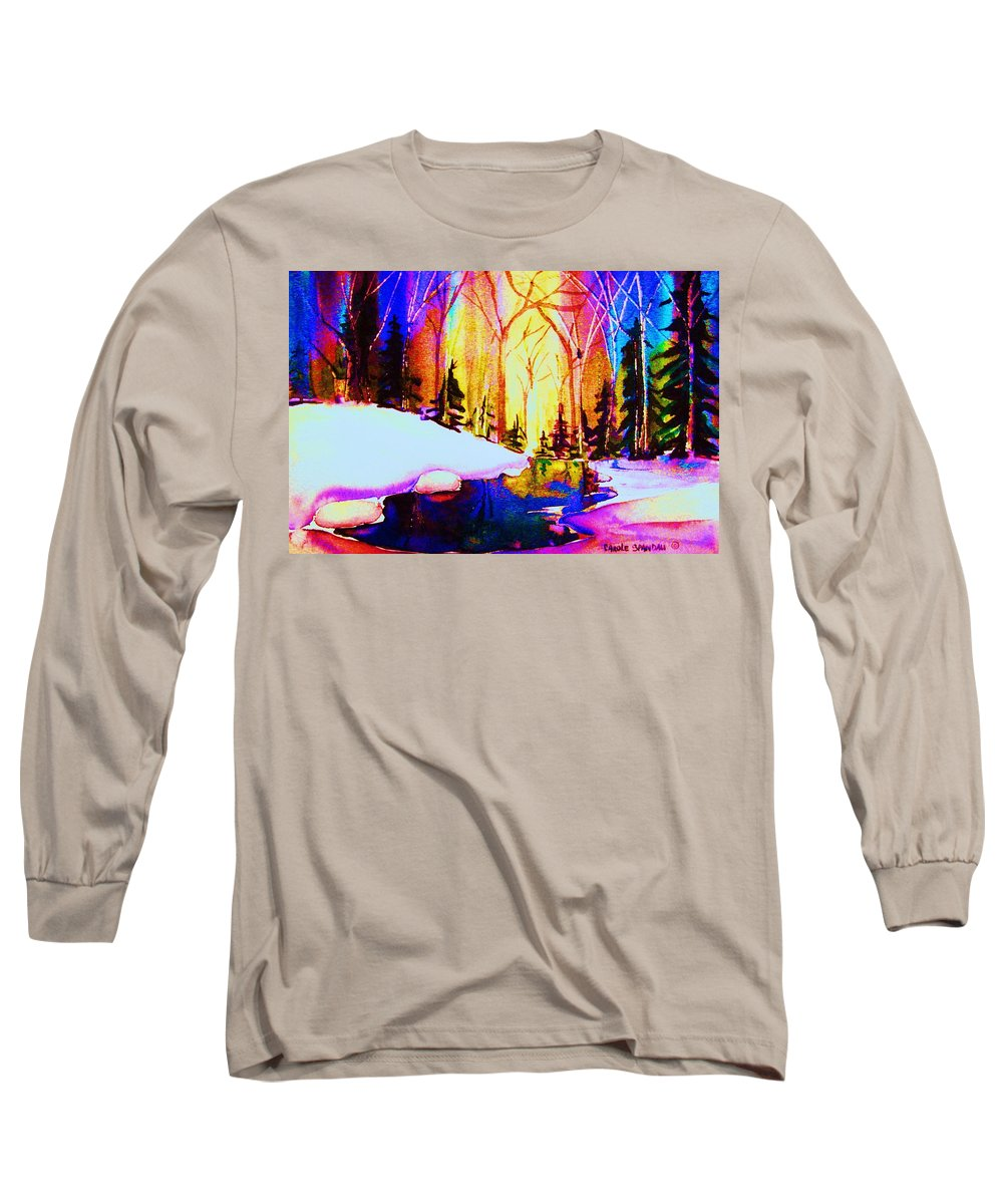 Reflections Long Sleeve T-Shirt featuring the painting Reflection by Carole Spandau