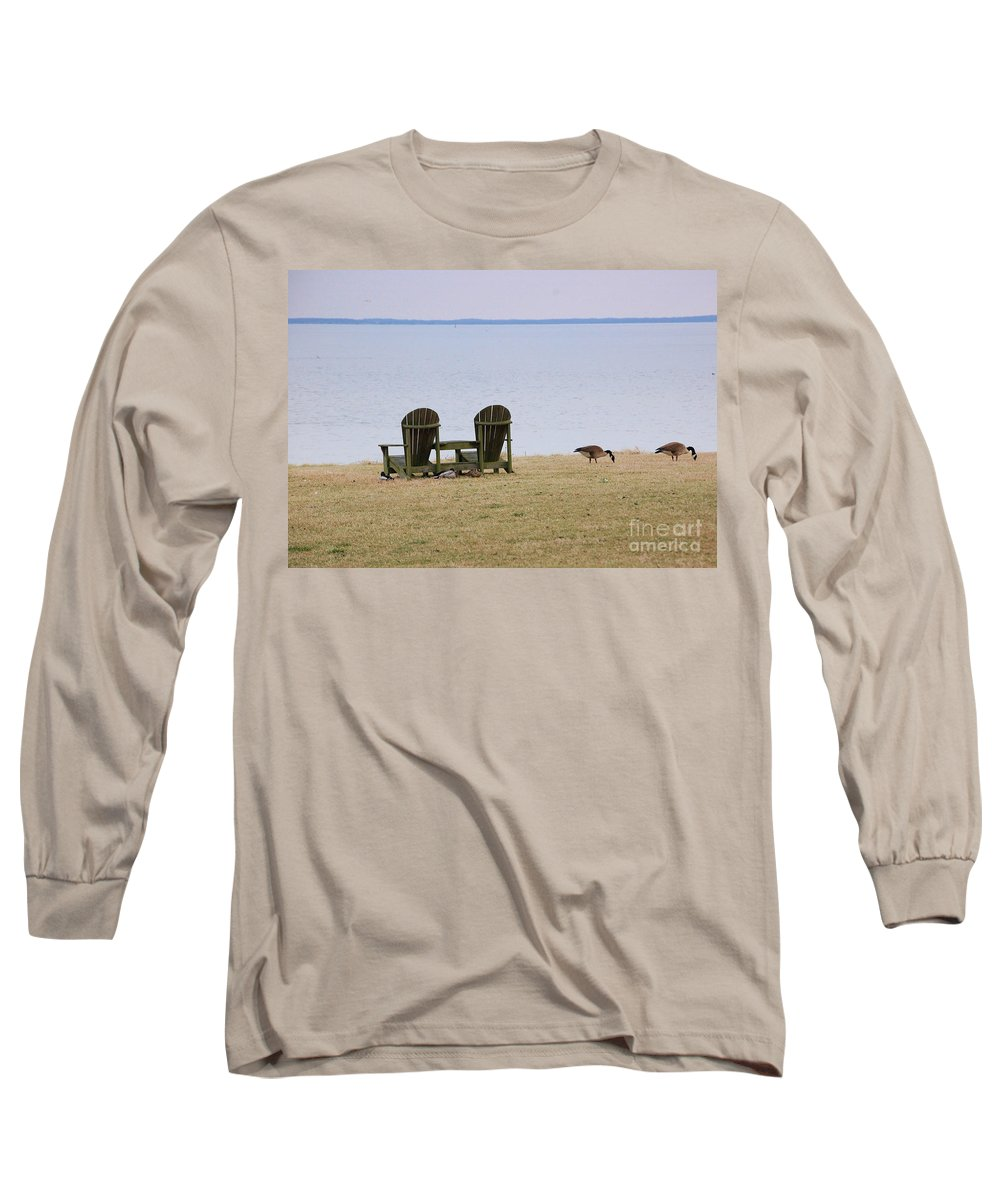 Chairs Long Sleeve T-Shirt featuring the photograph Relax by Debbi Granruth