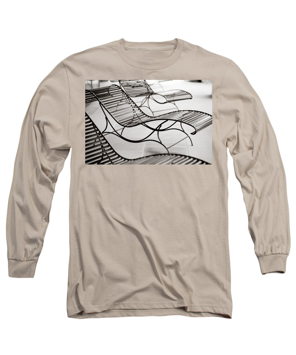 Chair Long Sleeve T-Shirt featuring the photograph Relaxation by Marilyn Hunt