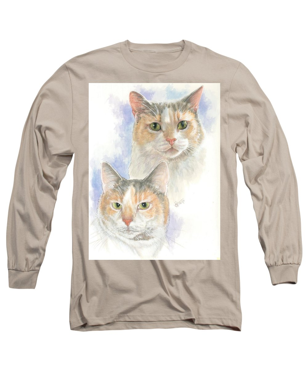 Domestic Long Sleeve T-Shirt featuring the mixed media Reno by Barbara Keith