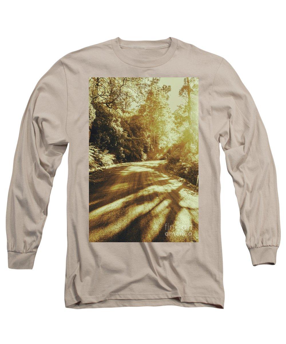 Rainforest Long Sleeve T-Shirt featuring the photograph Retro Rainforest Road by Jorgo Photography - Wall Art Gallery
