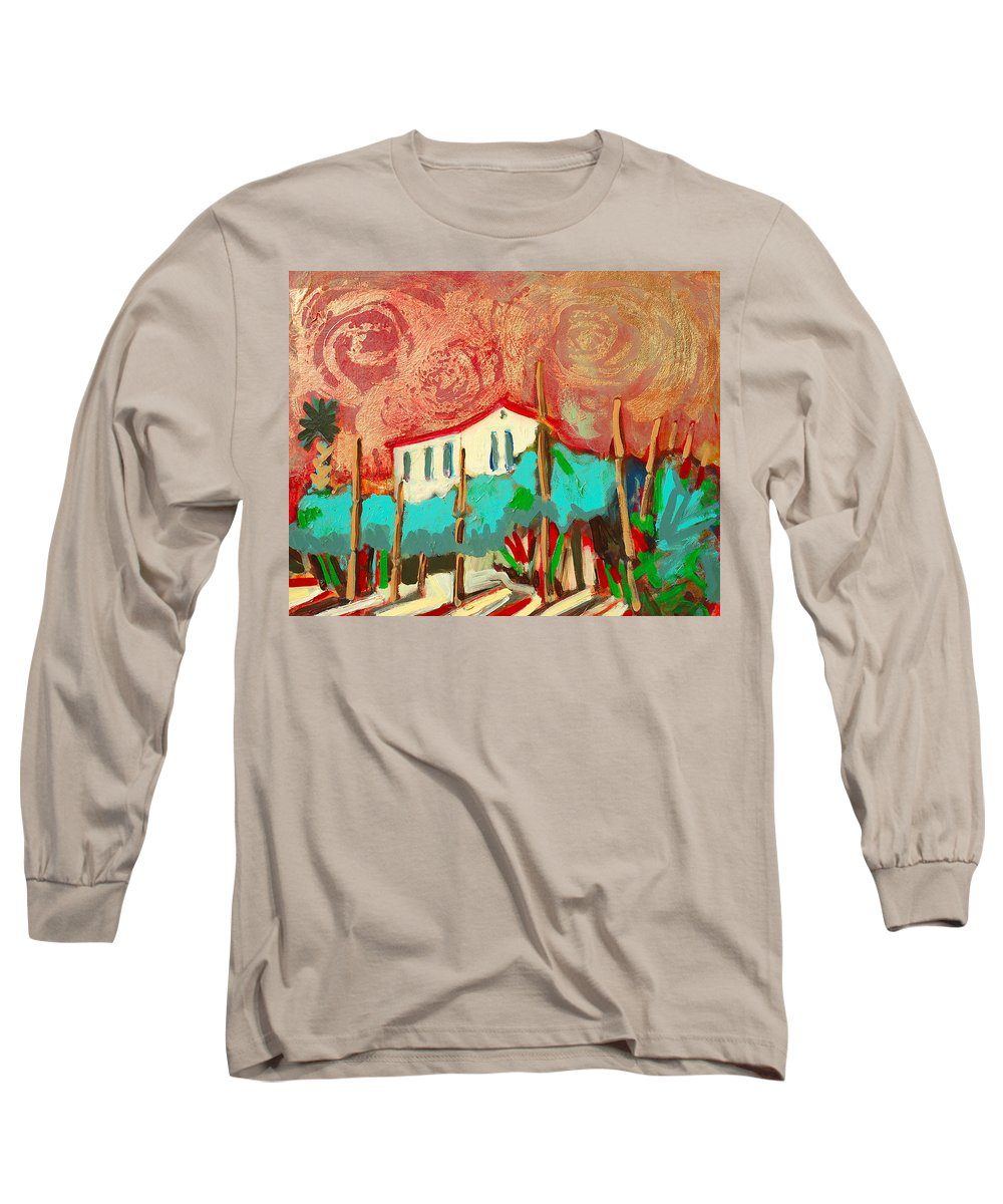 Tuscany Long Sleeve T-Shirt featuring the painting Ricordare by Kurt Hausmann