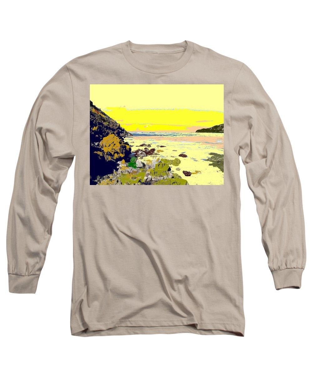 Beach Long Sleeve T-Shirt featuring the photograph Rocky Beach by Ian MacDonald