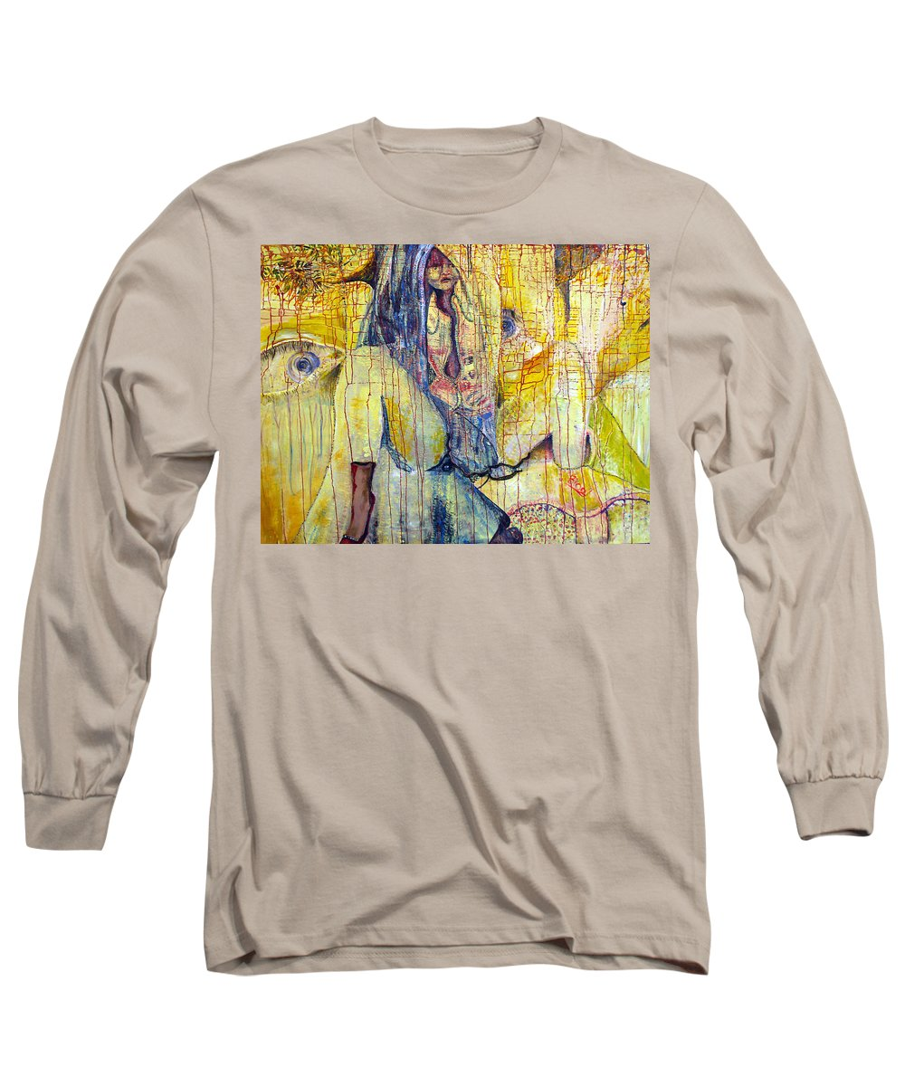 Portrait Long Sleeve T-Shirt featuring the painting Roots by Peggy Blood