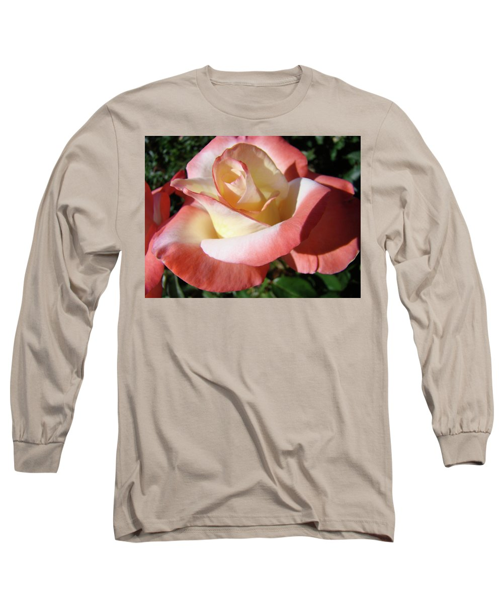 Rose Long Sleeve T-Shirt featuring the photograph Roses Pink Creamy White Rose Garden 5 Fine Art Prints Baslee Troutman by Baslee Troutman