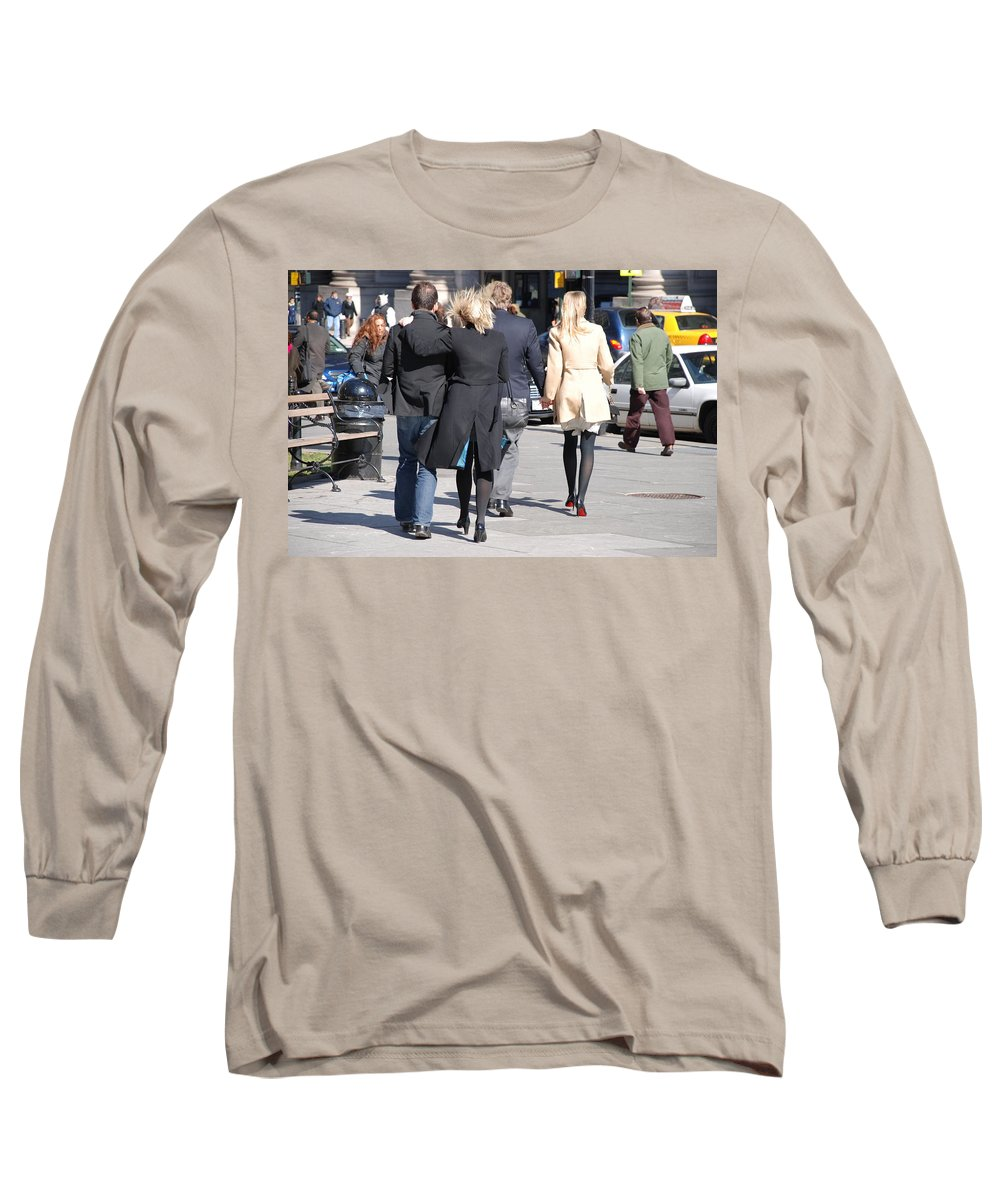 Urban Long Sleeve T-Shirt featuring the photograph Rushing To The Alter by Rob Hans