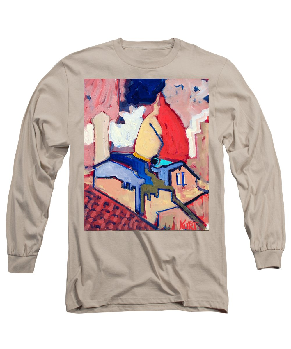Florence Long Sleeve T-Shirt featuring the painting Salutare by Kurt Hausmann