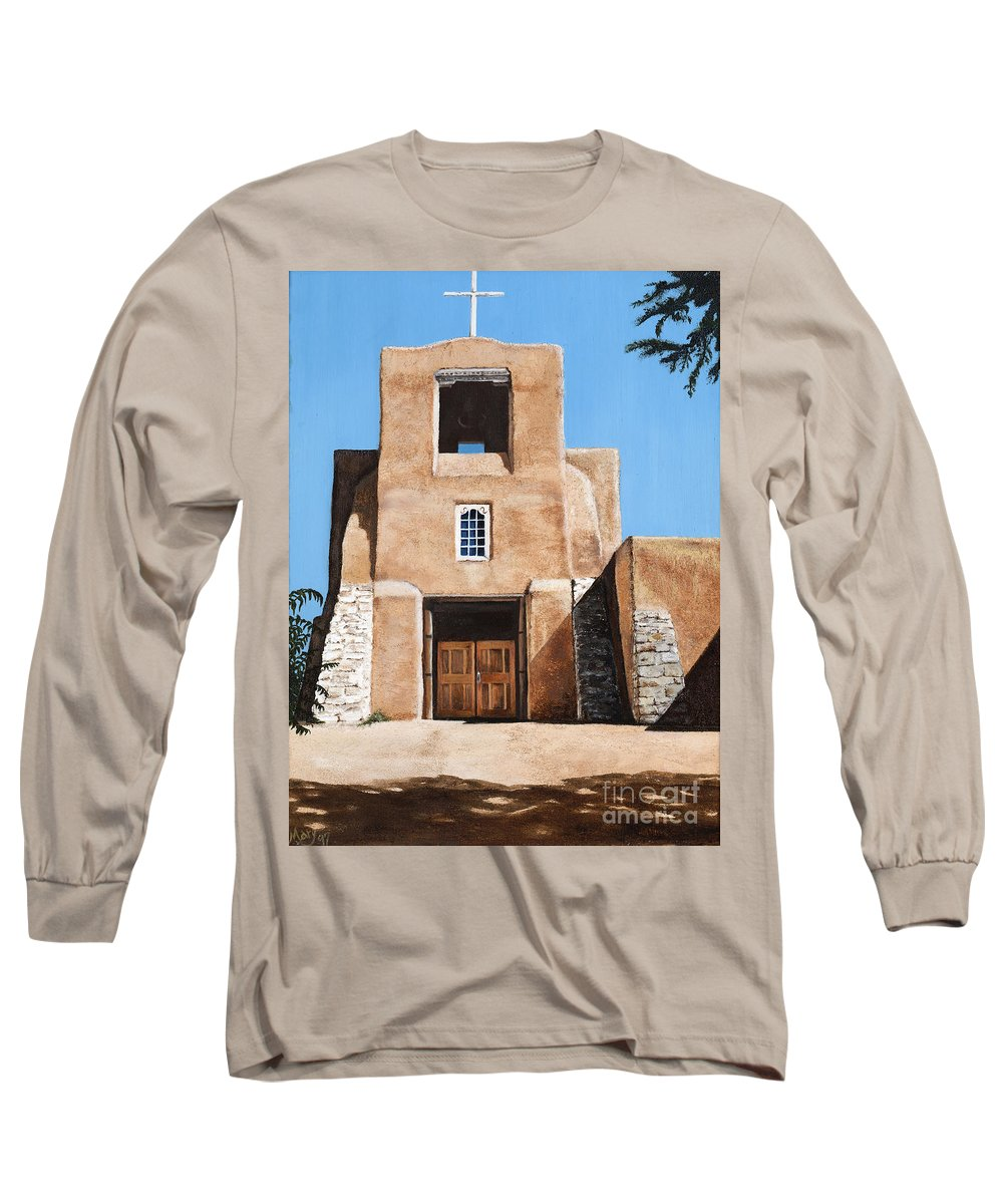 Art Long Sleeve T-Shirt featuring the painting San Miguel by Mary Rogers