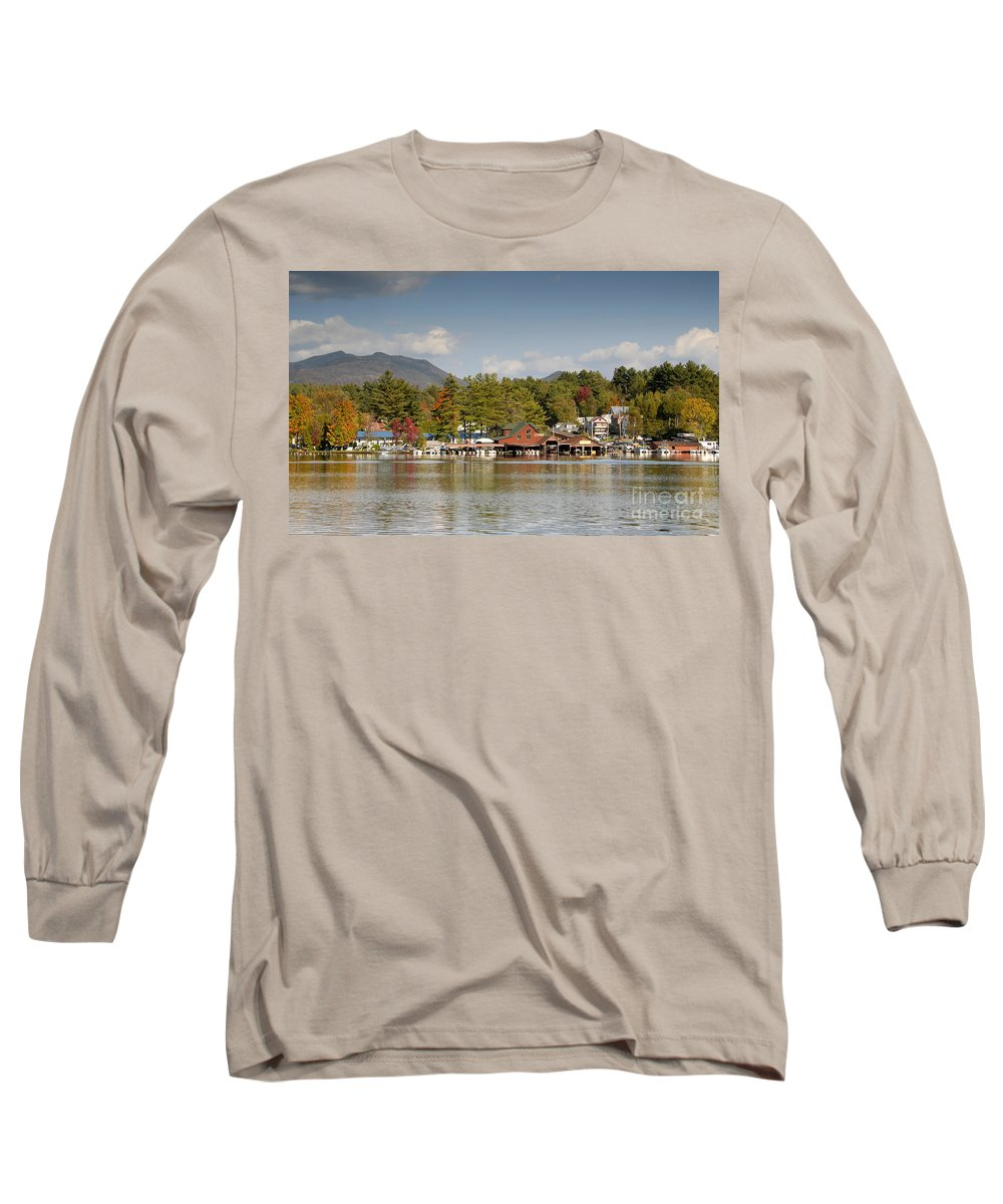 Saranac Lake New York Long Sleeve T-Shirt featuring the photograph Saranac Lake by David Lee Thompson