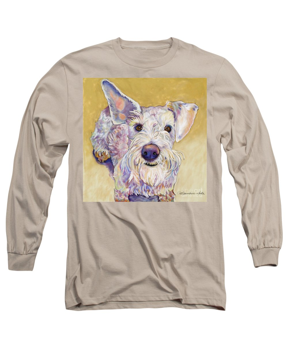 Schnauzer Long Sleeve T-Shirt featuring the pastel Scooter by Pat Saunders-White