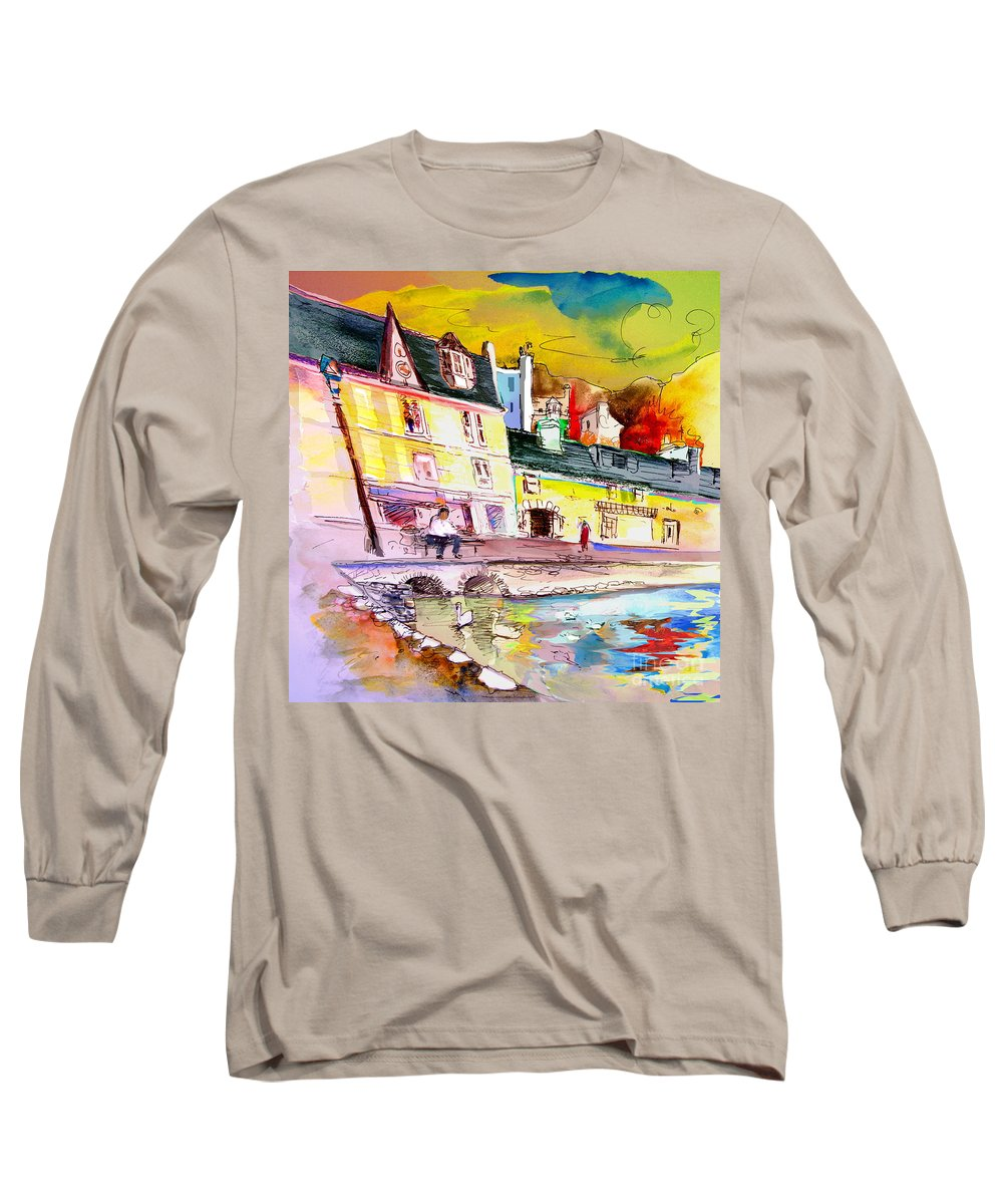 Scotland Paintings Long Sleeve T-Shirt featuring the painting Scotland 04 by Miki De Goodaboom