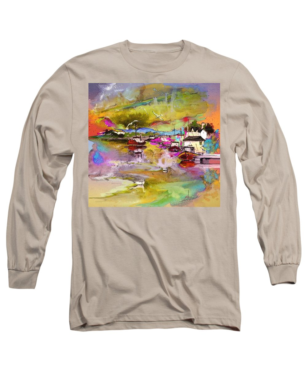 Scotland Paintings Long Sleeve T-Shirt featuring the painting Scotland 13 by Miki De Goodaboom