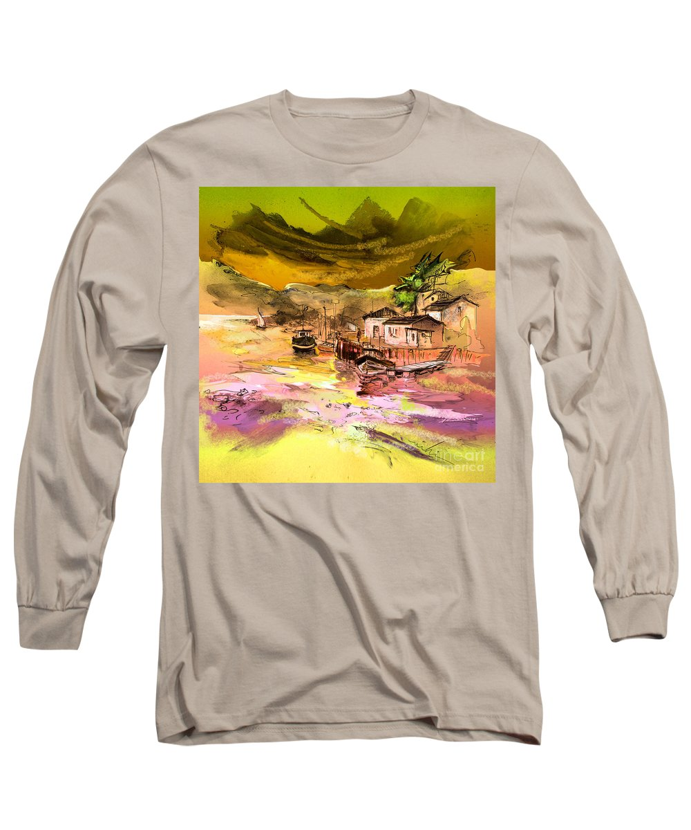 Scotland Paintings Long Sleeve T-Shirt featuring the painting Scotland 14 by Miki De Goodaboom