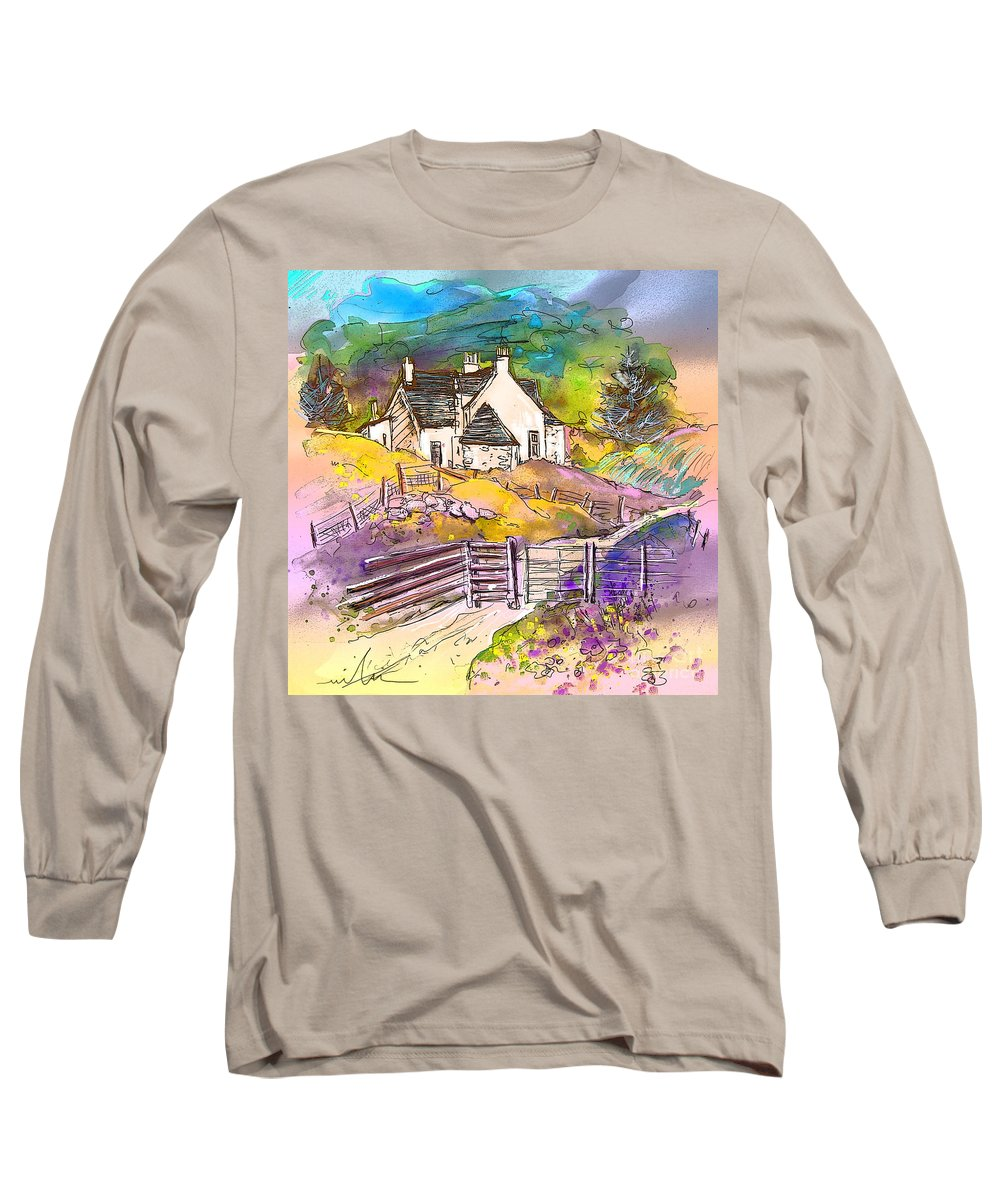 Scotland Paintings Long Sleeve T-Shirt featuring the painting Scotland 16 by Miki De Goodaboom
