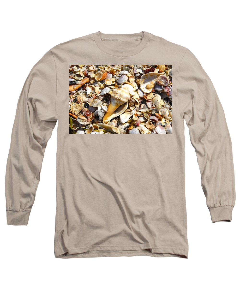 Florida Long Sleeve T-Shirt featuring the photograph Sea Shells by David Lee Thompson