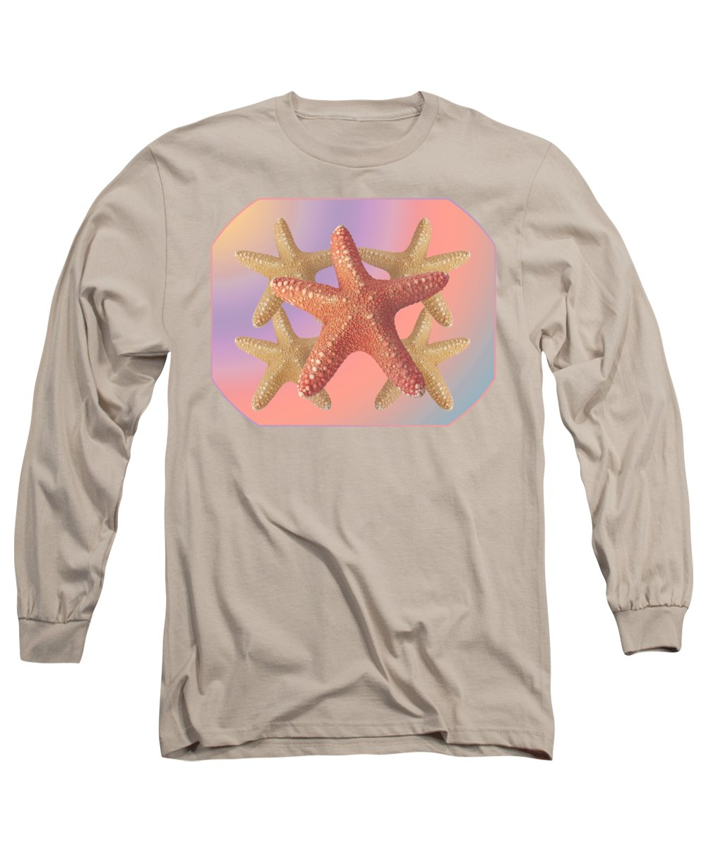 Starfish Long Sleeve T-Shirt featuring the photograph Sea Star Pastels by Gill Billington