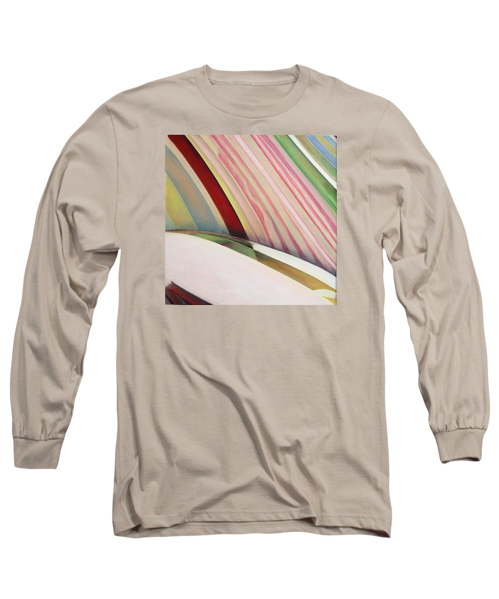 Abstract Long Sleeve T-Shirt featuring the painting Sens 1 by Muriel Dolemieux
