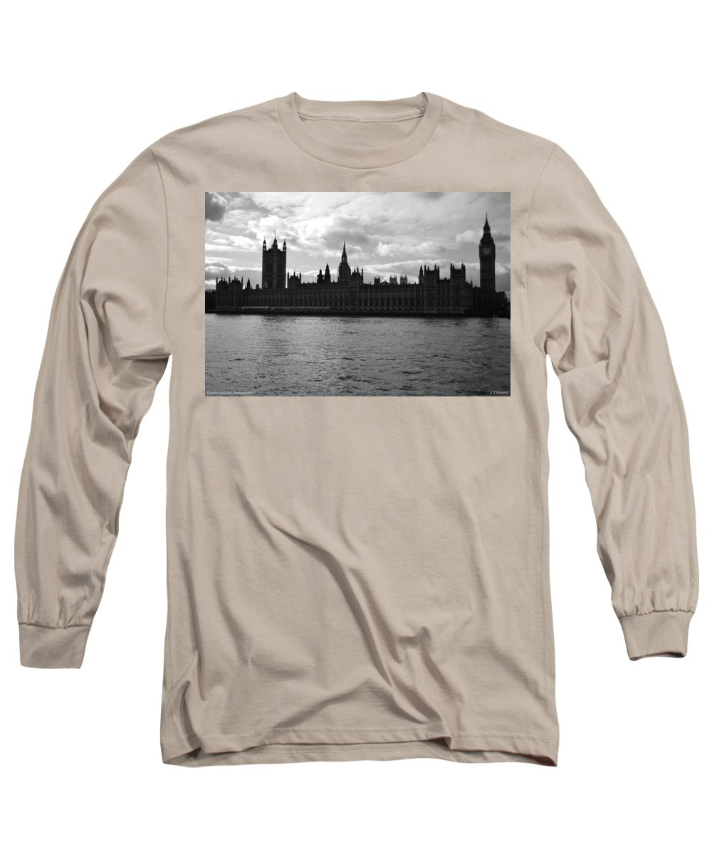 London Long Sleeve T-Shirt featuring the photograph Shadows Of Parliament by J Todd