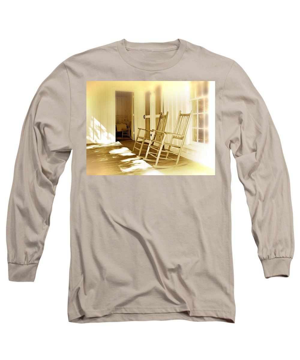 Porch Long Sleeve T-Shirt featuring the photograph Shared Moments by Mal Bray