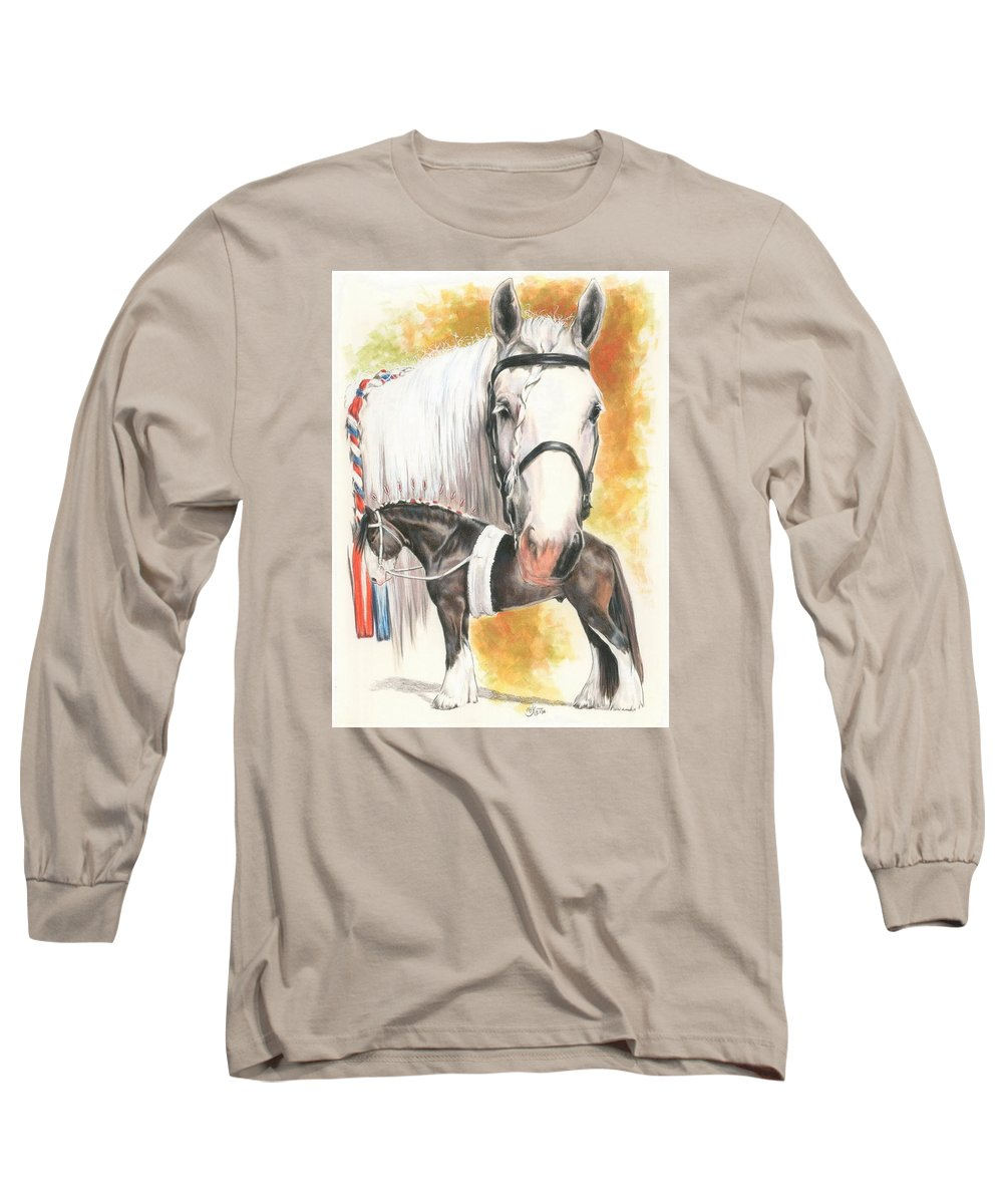 Shire Long Sleeve T-Shirt featuring the mixed media Shire by Barbara Keith
