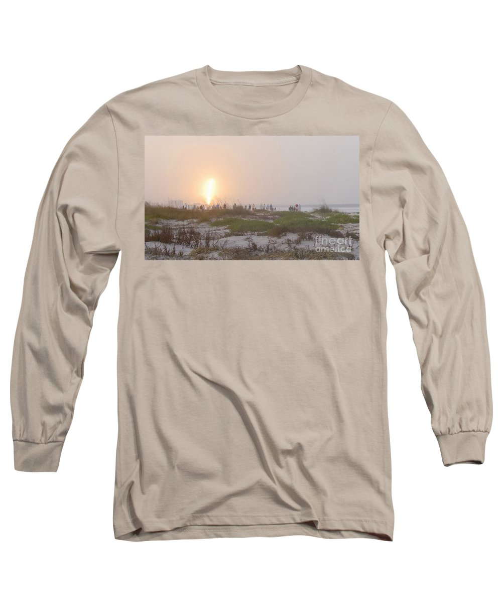 Shuttle Launch Long Sleeve T-Shirt featuring the photograph Shuttle Launch by David Lee Thompson