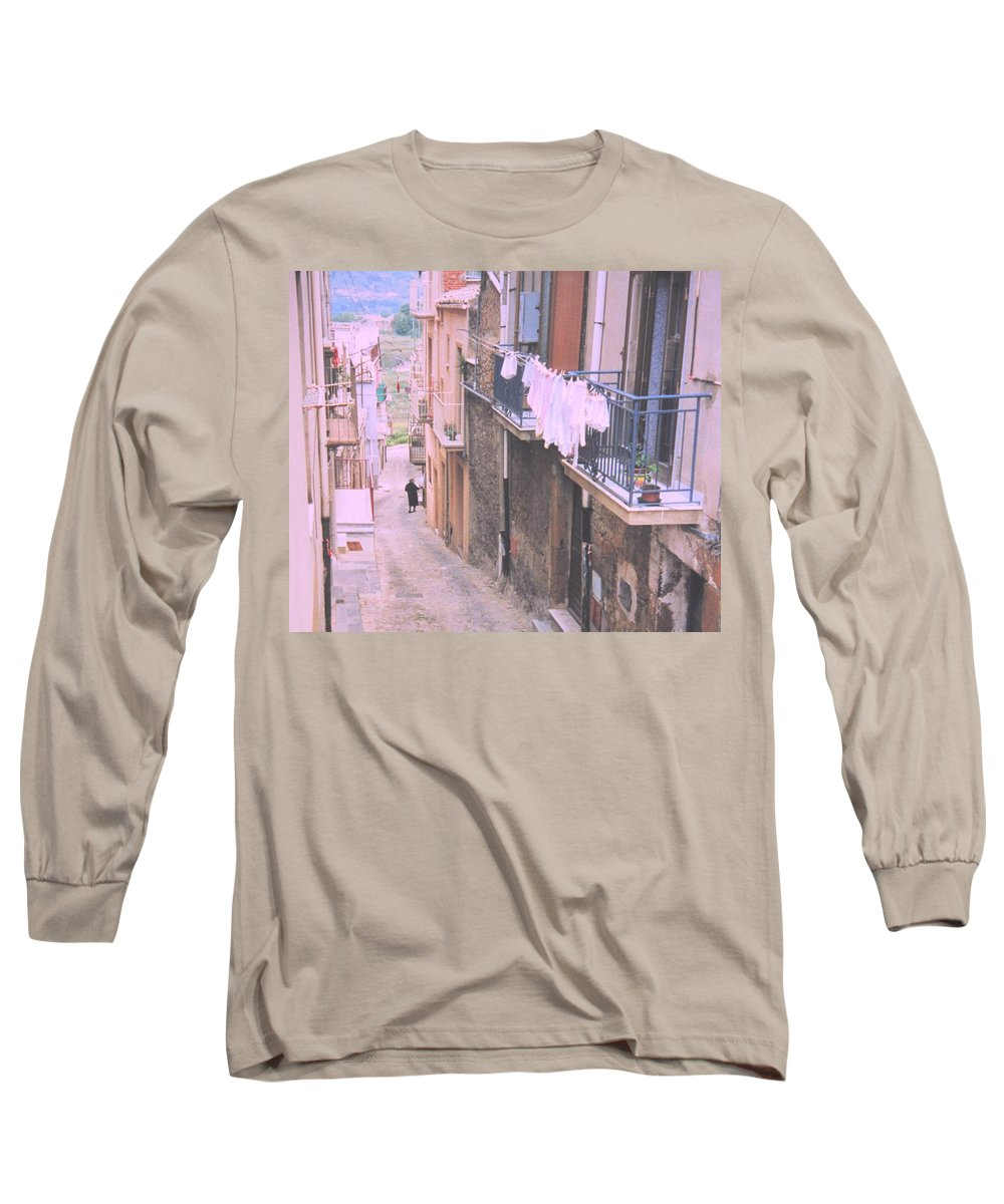 Sicily Long Sleeve T-Shirt featuring the photograph Sicily by Ian MacDonald