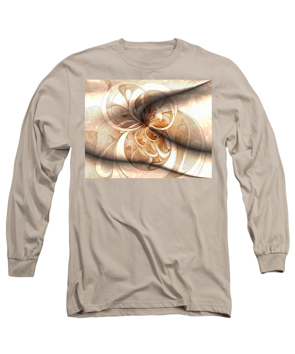 Digital Art Long Sleeve T-Shirt featuring the digital art Silk by Amanda Moore