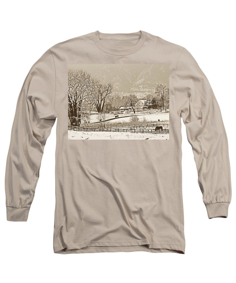 Landscape Long Sleeve T-Shirt featuring the photograph Simpler Times by Marilyn Hunt