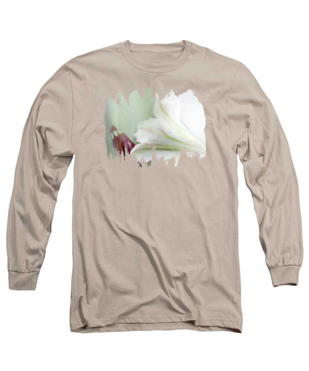 Amaryllis Digital Art Long Sleeve T-Shirts
