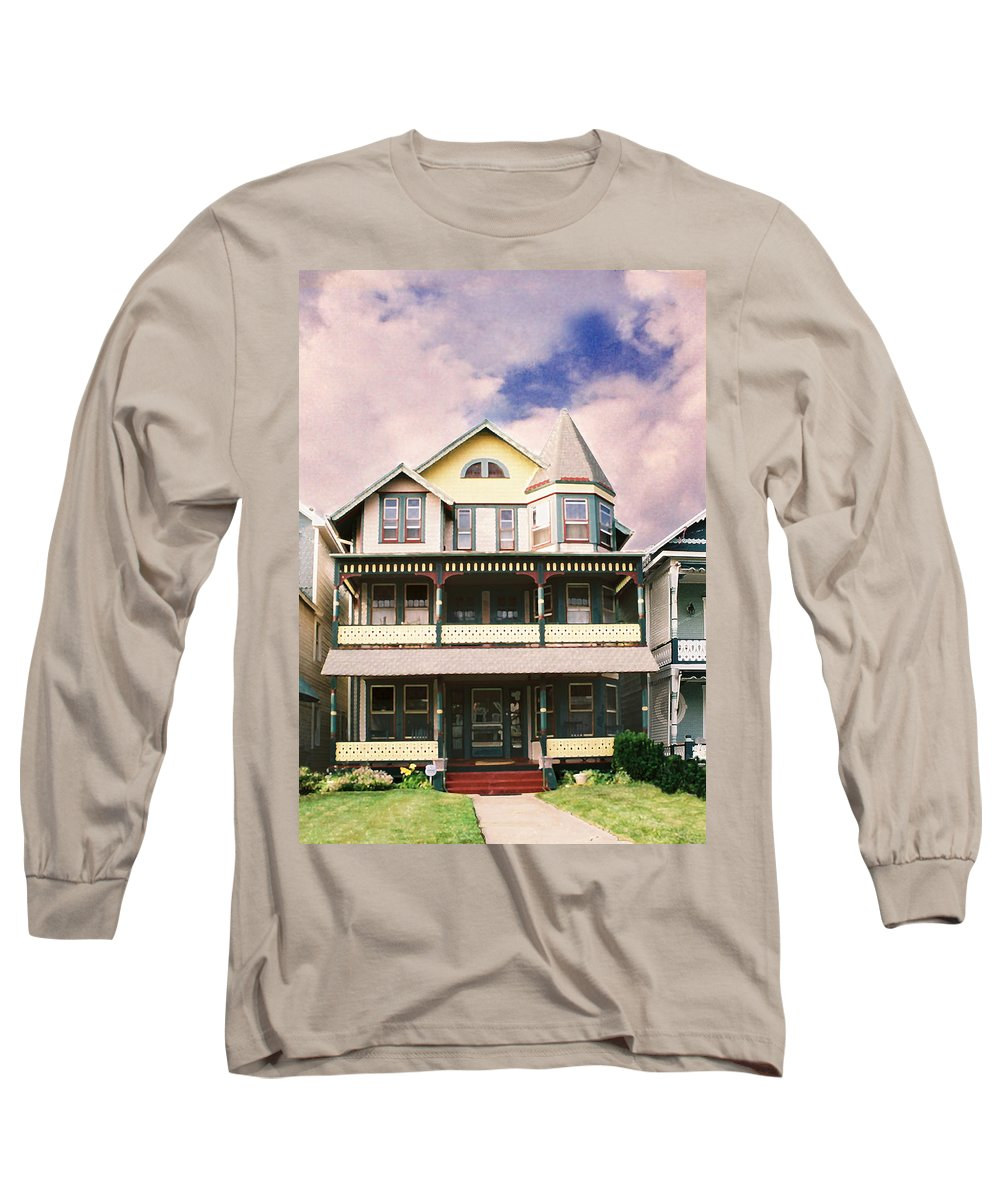 Landscape Long Sleeve T-Shirt featuring the photograph Sisters Panel Three Of Triptych by Steve Karol