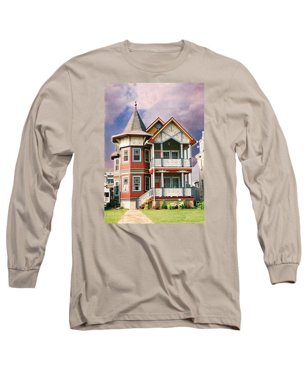 Landscape Long Sleeve T-Shirt featuring the photograph Sisters Panel Two Of Triptych by Steve Karol
