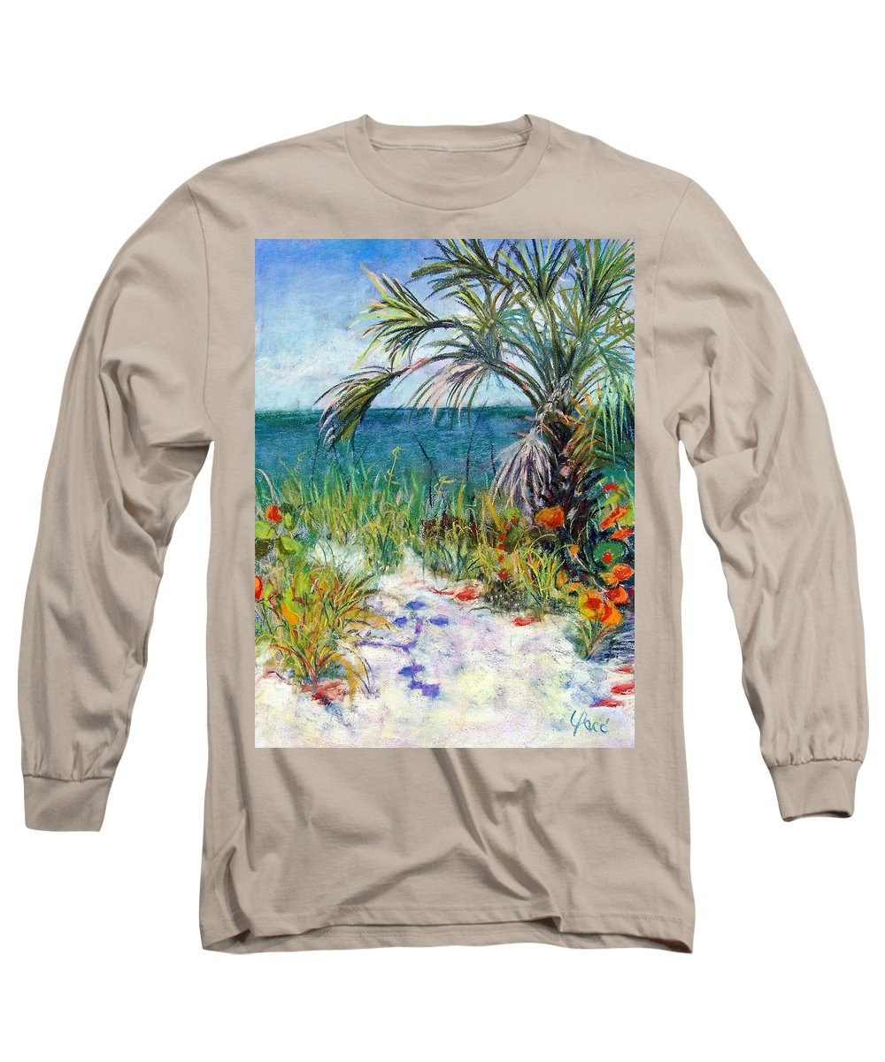 Wiggins Pass Long Sleeve T-Shirt featuring the painting Sitting At Wiggins Pass by Laurie Paci