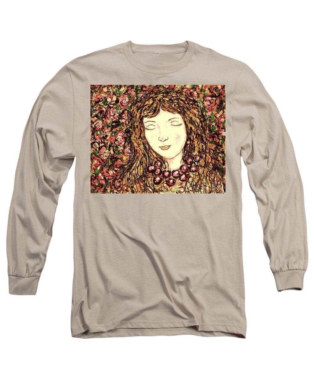 Sleeping Beauty Long Sleeve T-Shirt featuring the painting Sleeping Beauty by Natalie Holland