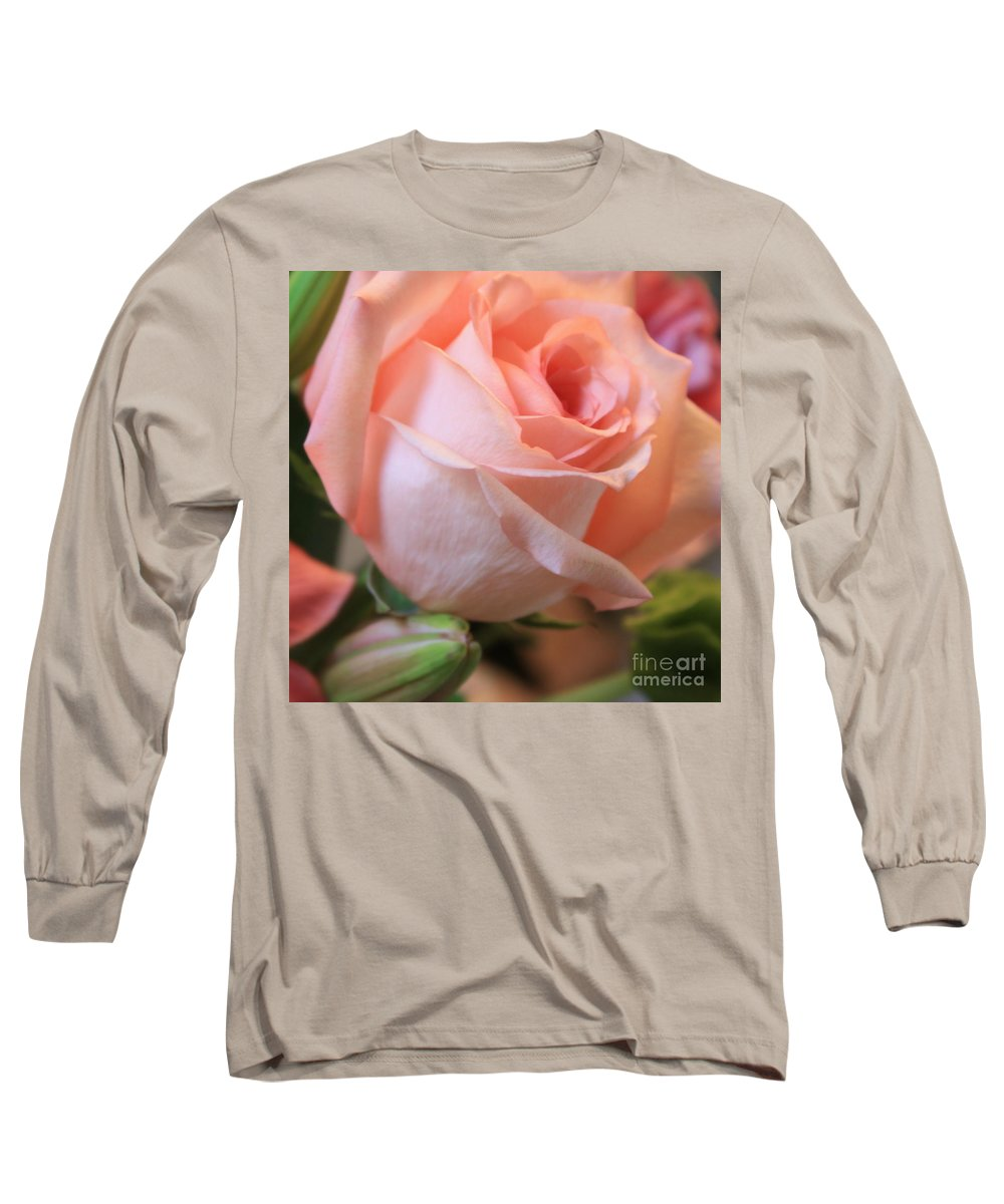 Pink Rose Long Sleeve T-Shirt featuring the photograph Soft Pink Rose by Carol Groenen