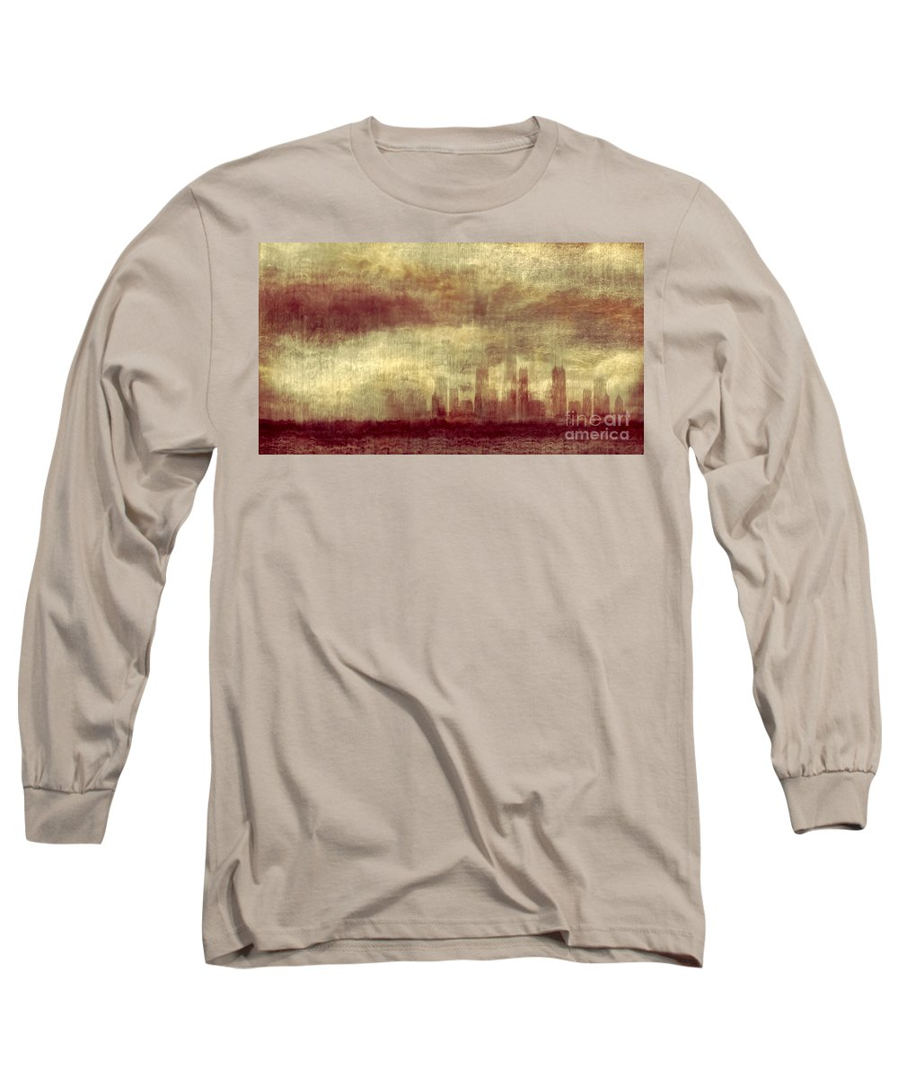 Clouds Long Sleeve T-Shirt featuring the photograph Someone To Hold You Beneath Darkened Sky by Dana DiPasquale