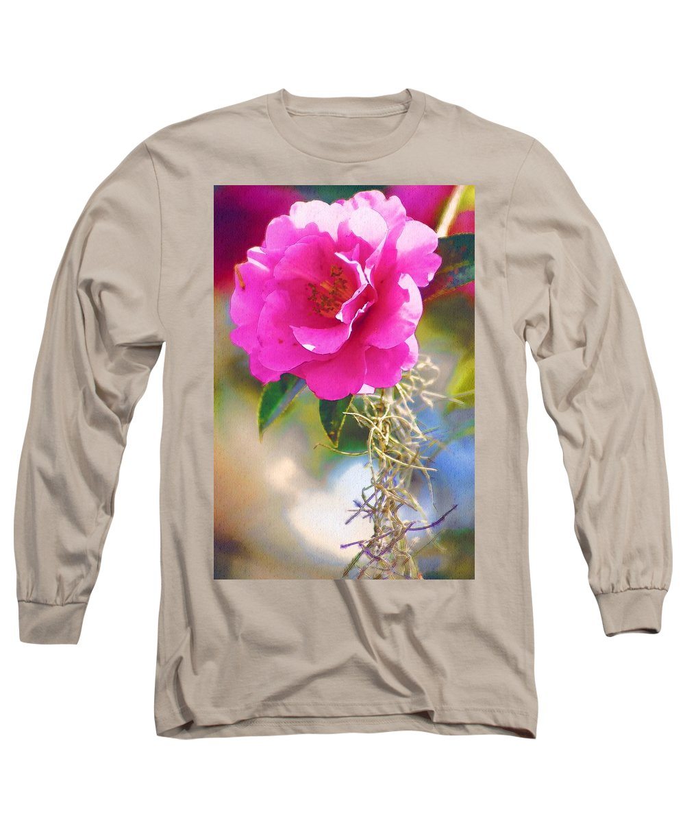 Rose Long Sleeve T-Shirt featuring the digital art Southern Rose by Donna Bentley