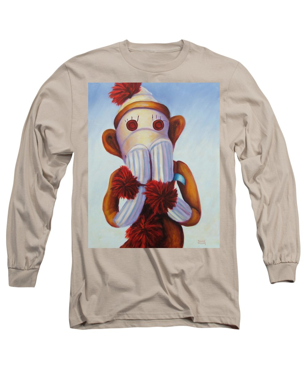 Children Long Sleeve T-Shirt featuring the painting Speak No Bad Stuff by Shannon Grissom
