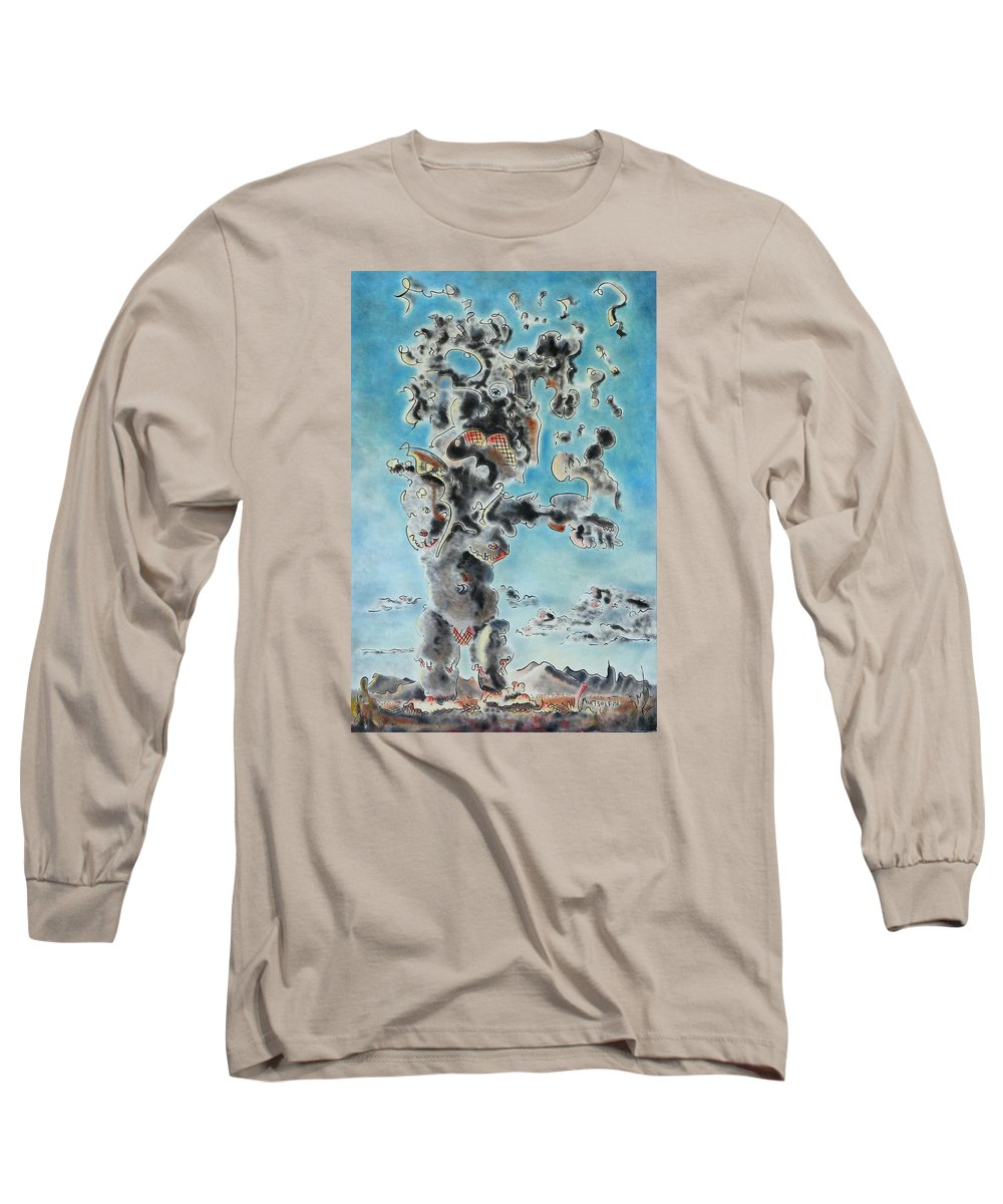 Surreal Long Sleeve T-Shirt featuring the painting Spectre by Dave Martsolf