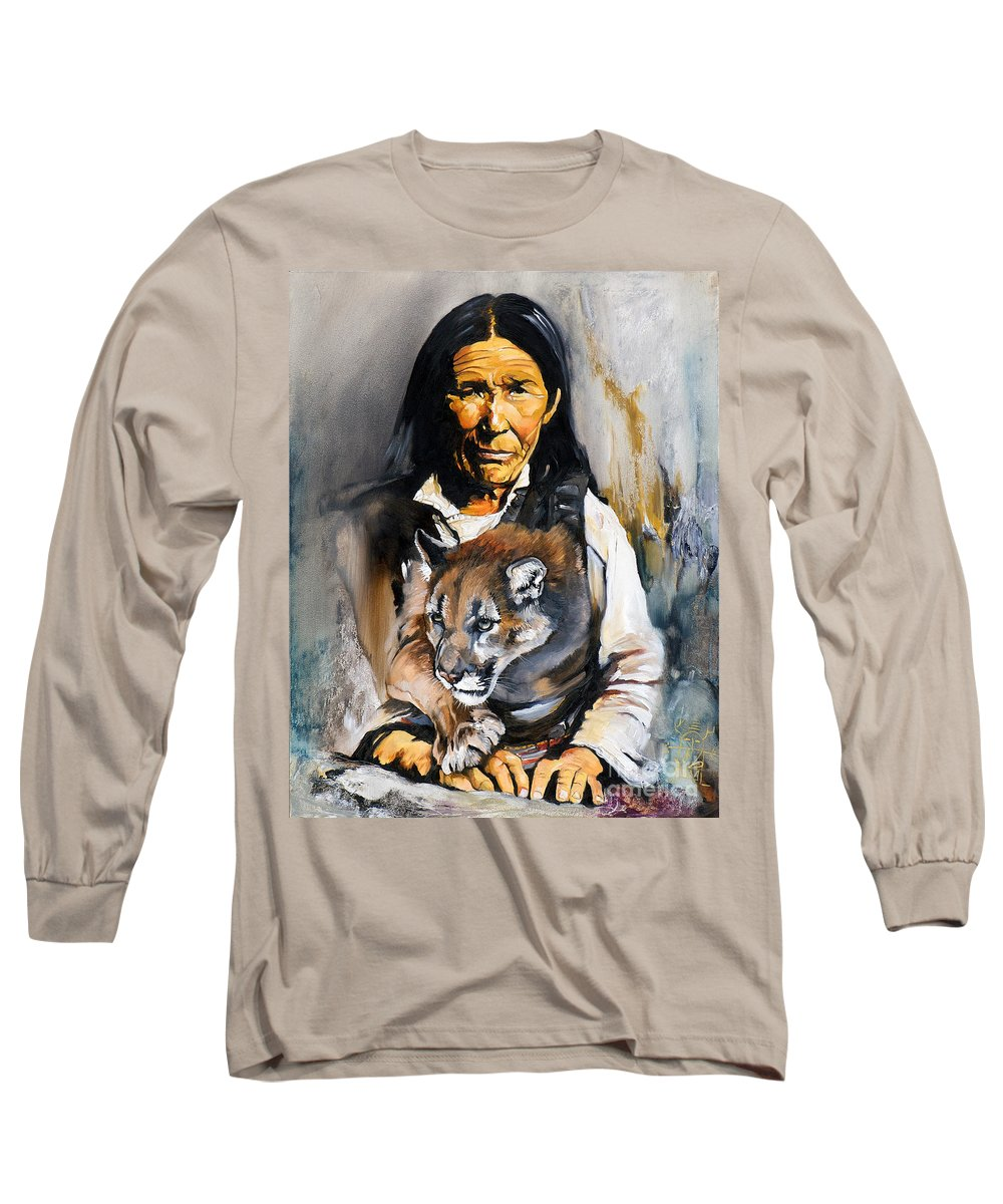 Spiritual Long Sleeve T-Shirt featuring the painting Spirit Within by J W Baker