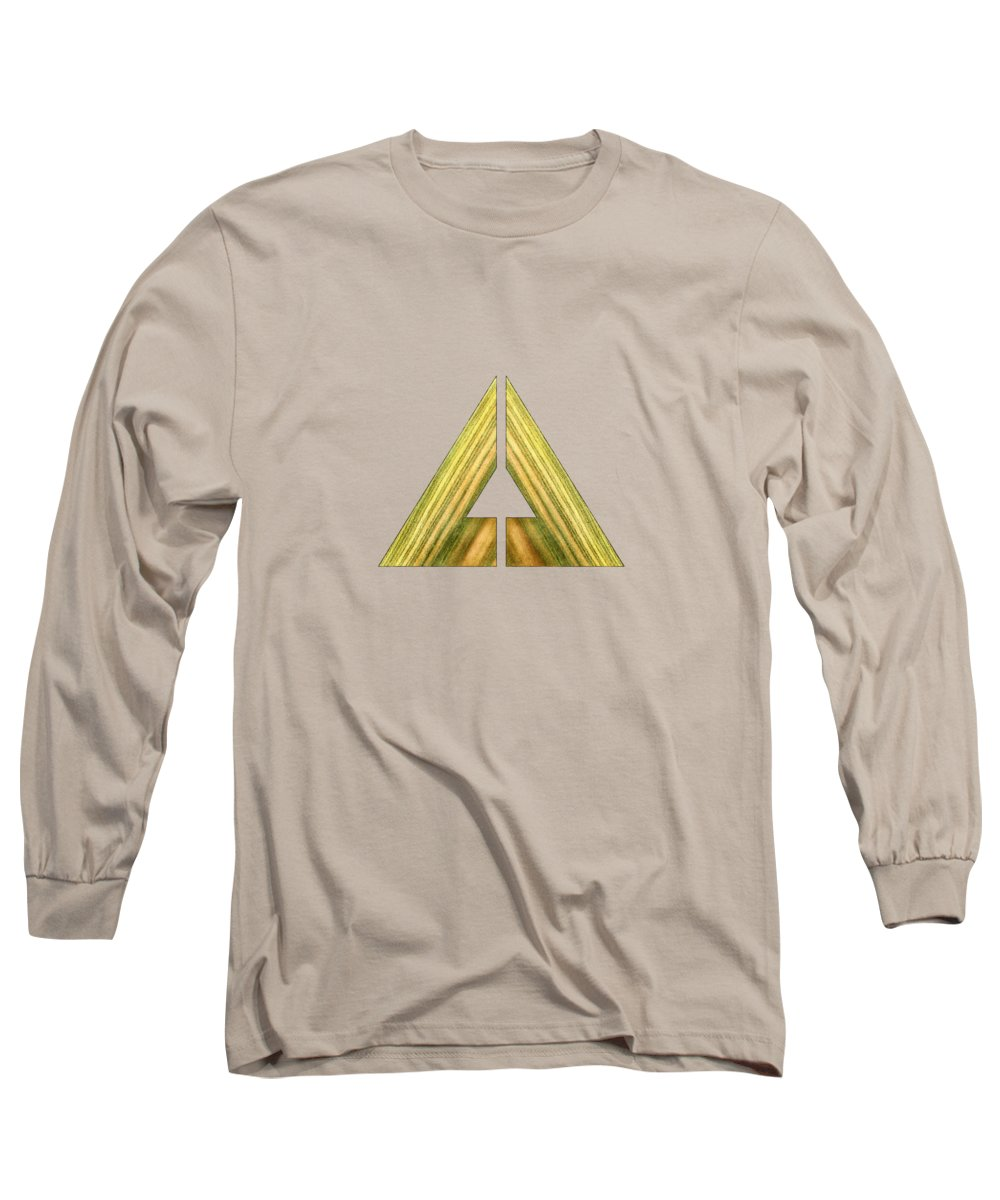 Block Long Sleeve T-Shirt featuring the photograph Split Triangle Green by YoPedro