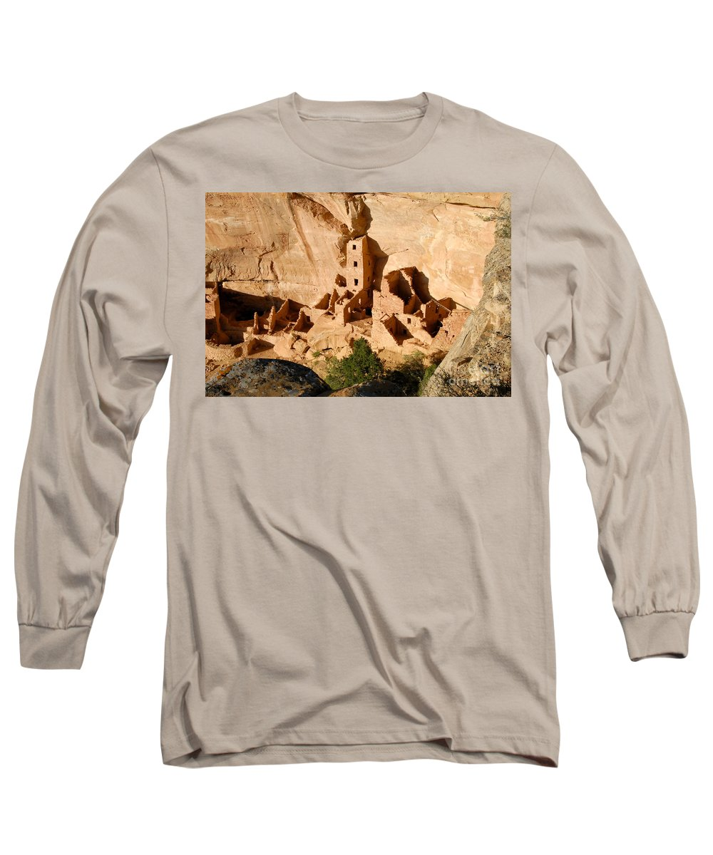 Square Tower Long Sleeve T-Shirt featuring the photograph Square Tower Ruin by David Lee Thompson