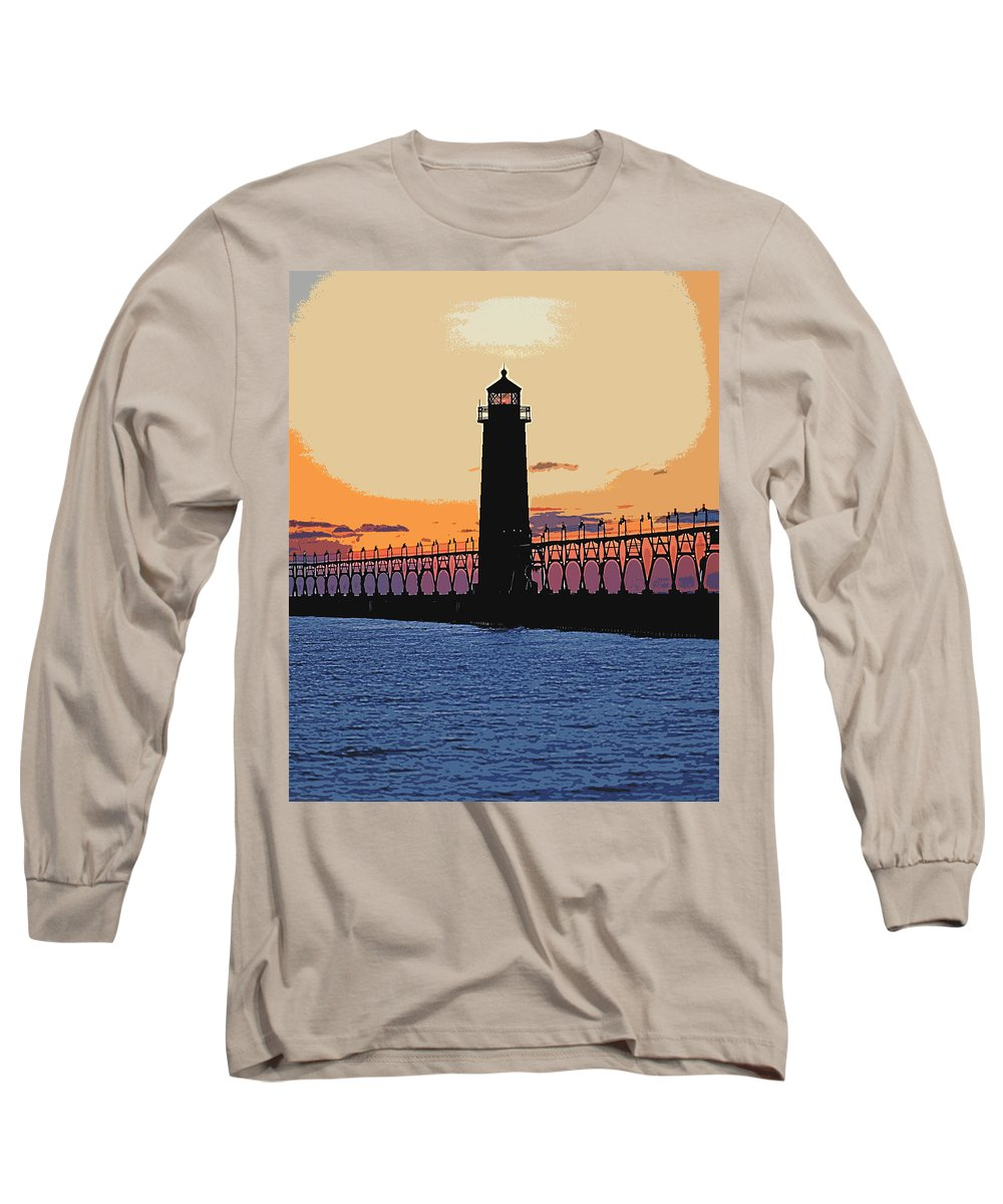 Light House Long Sleeve T-Shirt featuring the photograph Standing Sure by Robert Pearson
