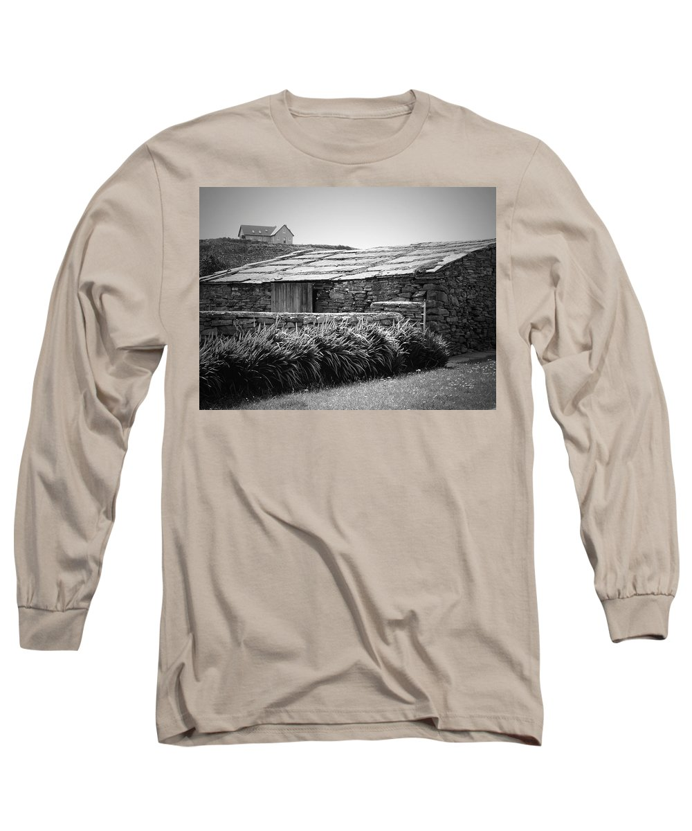 Irish Long Sleeve T-Shirt featuring the photograph Stone Structure Doolin Ireland by Teresa Mucha