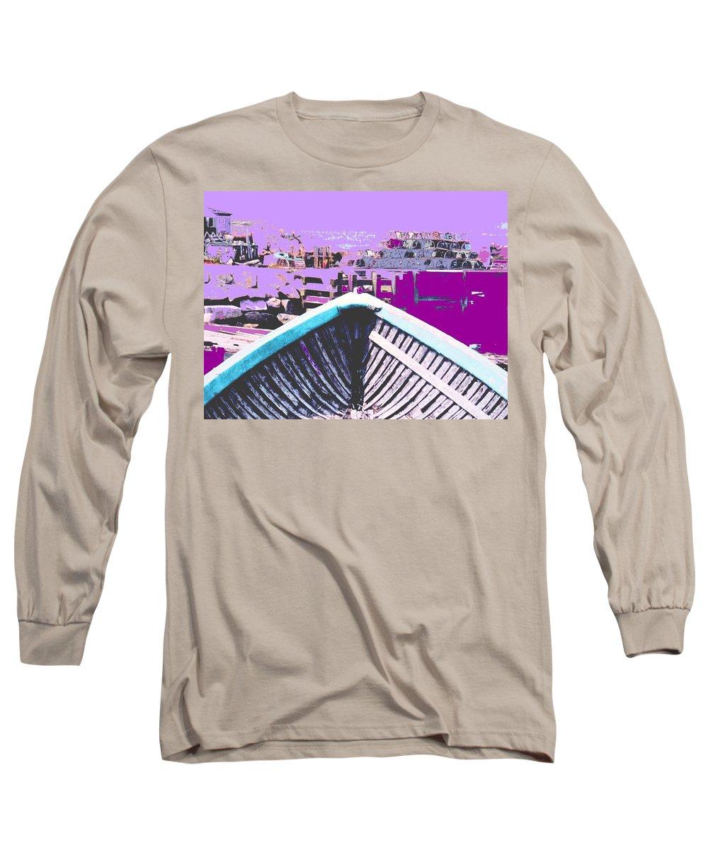 Nova Scotia Long Sleeve T-Shirt featuring the photograph Strange Voyage by Ian MacDonald