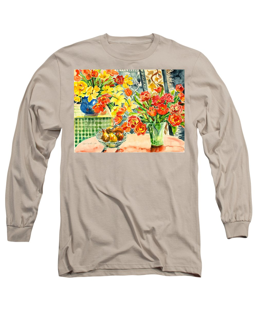 Watercolor Long Sleeve T-Shirt featuring the painting Studio Still Life by Alexandra Maria Ethlyn Cheshire