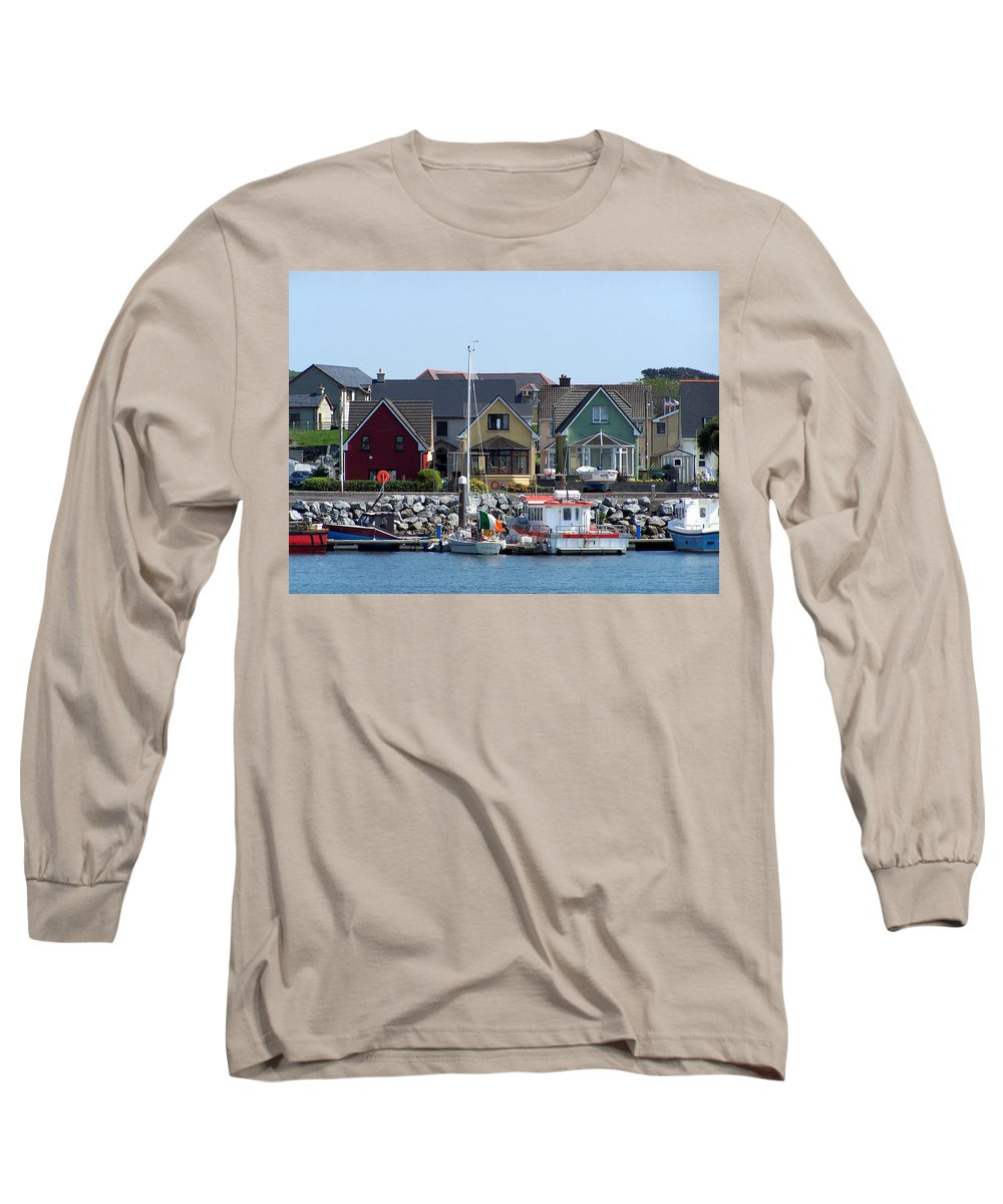 Irish Long Sleeve T-Shirt featuring the photograph Summer Cottages Dingle Ireland by Teresa Mucha