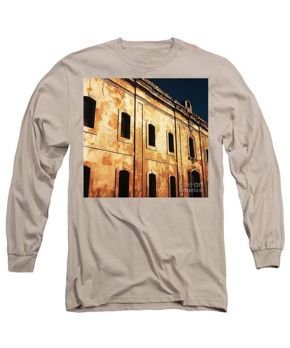 Buildings Long Sleeve T-Shirt featuring the photograph Sun Kissed by Jeff Barrett