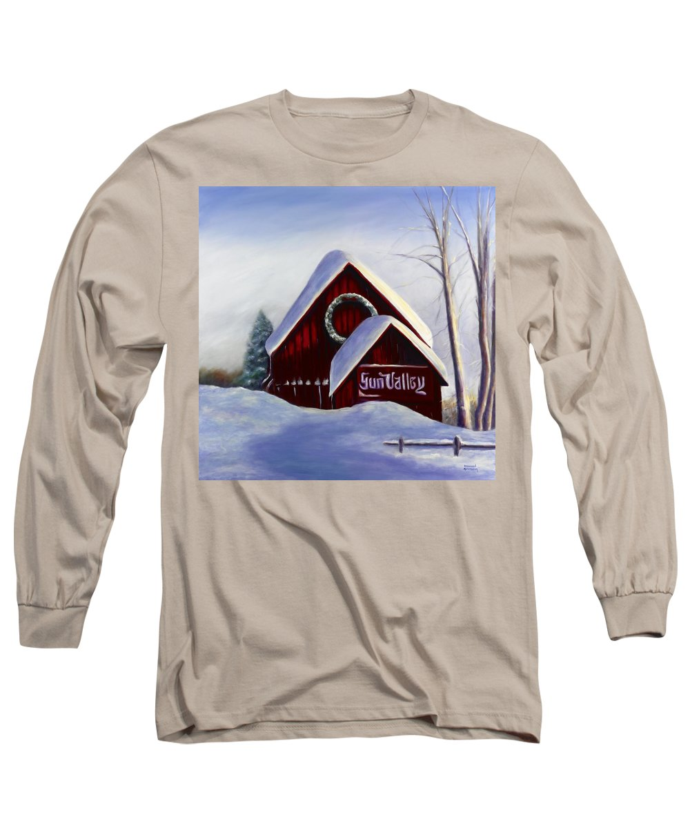 Landscape Long Sleeve T-Shirt featuring the painting Sun Valley 3 by Shannon Grissom