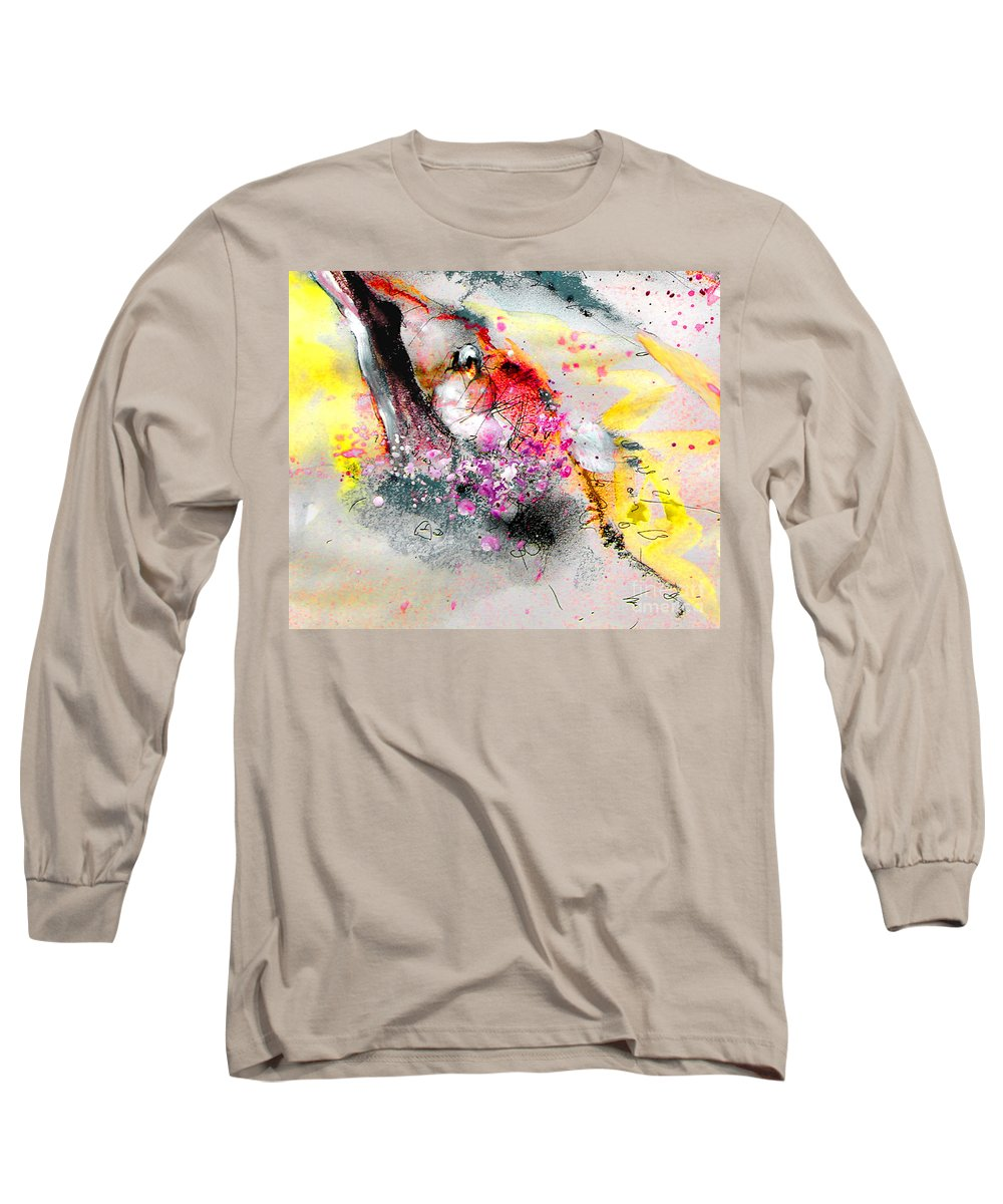 Pastel Painting Long Sleeve T-Shirt featuring the painting Sunday By The Tree by Miki De Goodaboom